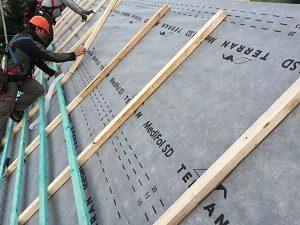 Tetőfólia beépítése